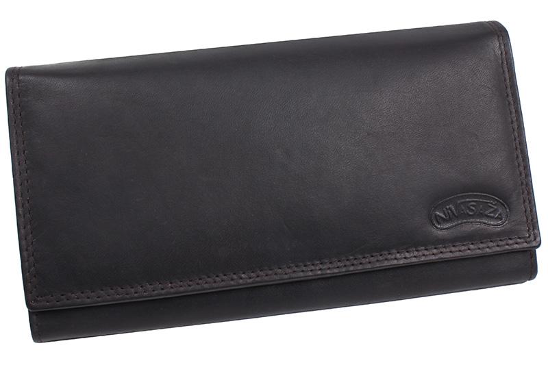 Dámská kožená peněženka Nivasaža N8-MTH-BR tmavě hnědá