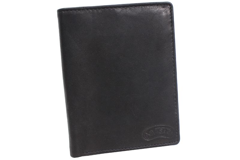 Pánská kožená peněženka Nivasaža N202-MTH-B černá