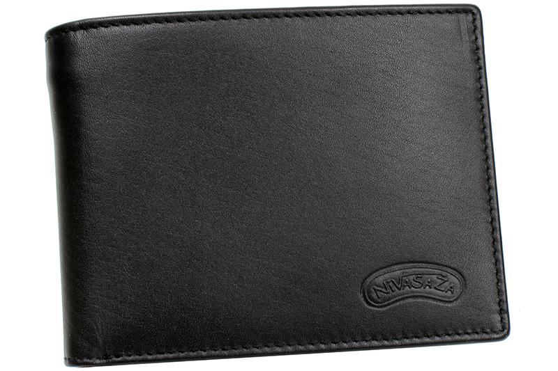 Pánská kožená peněženka Nivasaža N15-MLN-B černá