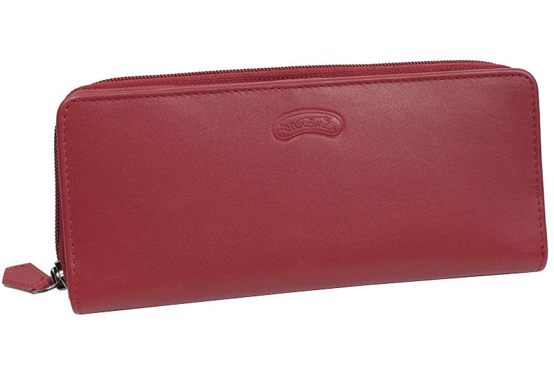 Dámská kožená peněženka Nivasaža N222-MLN-R červená