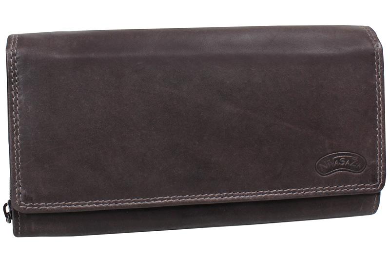 Dámská kožená peněženka Nivasaža N10-MTH-BR hnědá