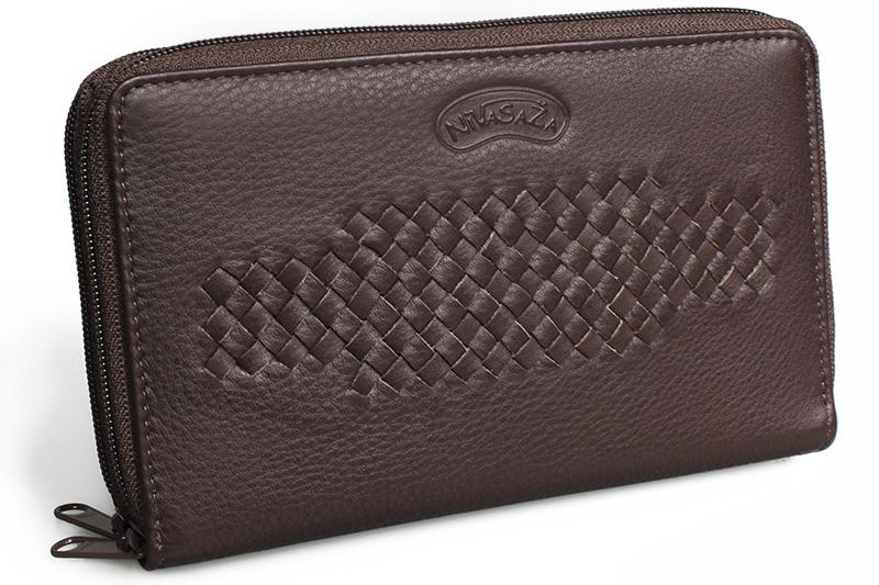 Dámská kožená peněženka Nivasaža N207-PIC-BR hnědá