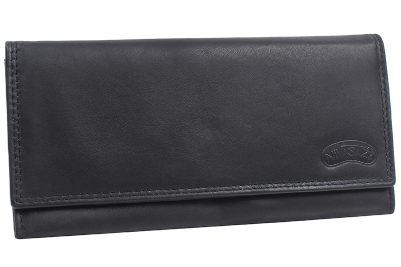 Dámská kožená peněženka Nivasaža N49-MTH-B černá