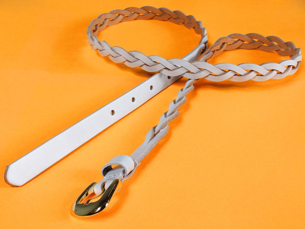 Dámský kožený pásek 10045/15 bílý Velikost: 95-105 cm