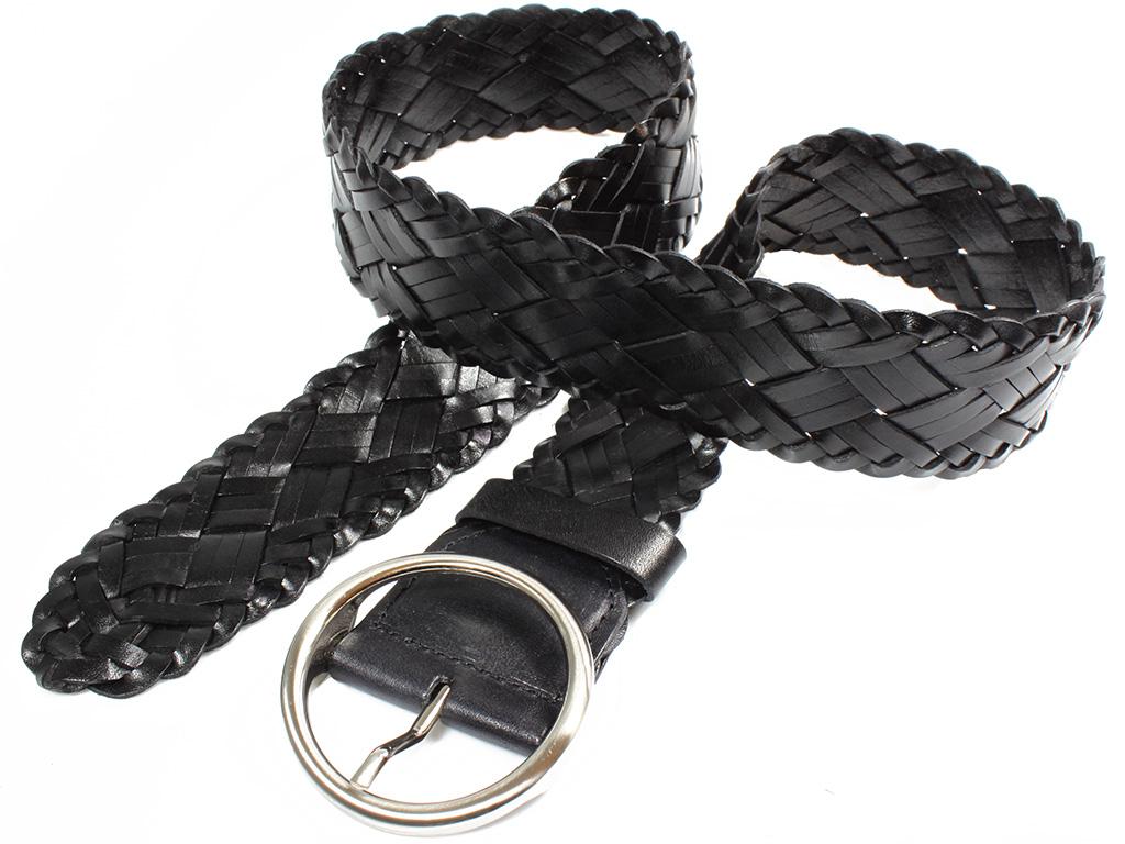"""Dámský kožený pásek 10047/60 černý Velikost: max. 100 cm - """"poslední dírka"""""""