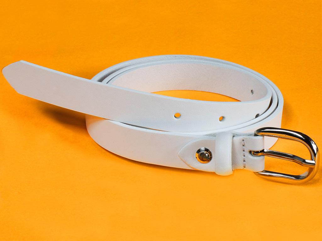 Dámský kožený pásek Bronzino Lei 10393/20 bílý Velikost: 87-97 cm