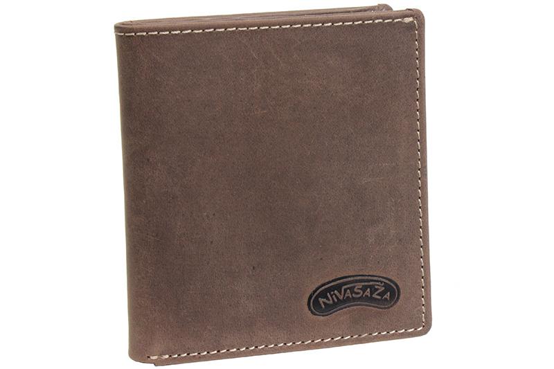 Kožené pouzdro na karty Nivasaža N70-HNT-BR hnědé