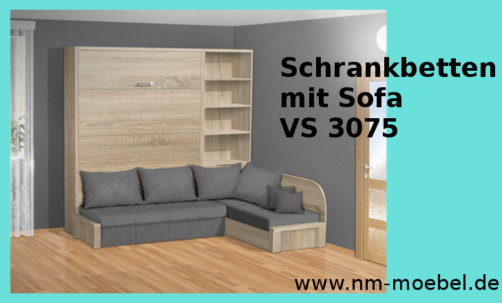 Schrankbetten mit Sofa
