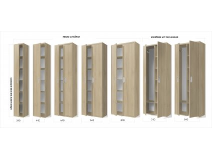 Schrankbett mit Lamelen VS1054 200x160 cm