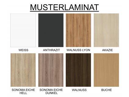 Schrankbett mit Lamelen VS1054 200x140 cm San Remo