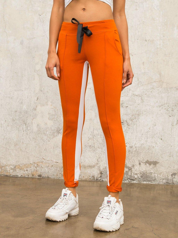 pol pl Ciemnopomaranczowe spodnie dresowe Defined 327878 5