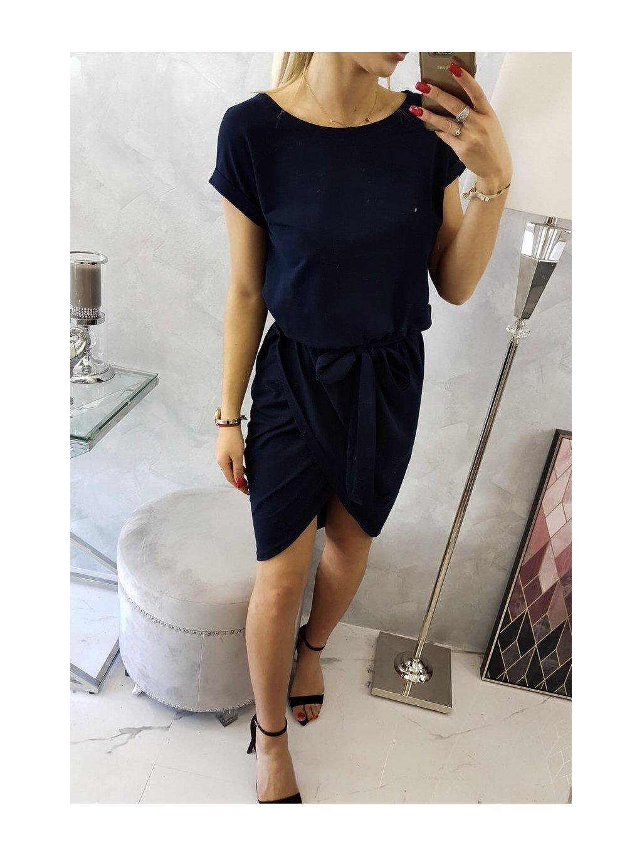 Šaty se skládanou sukní černé