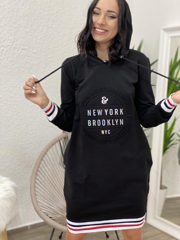 Šaty mikinové Brooklyn černé