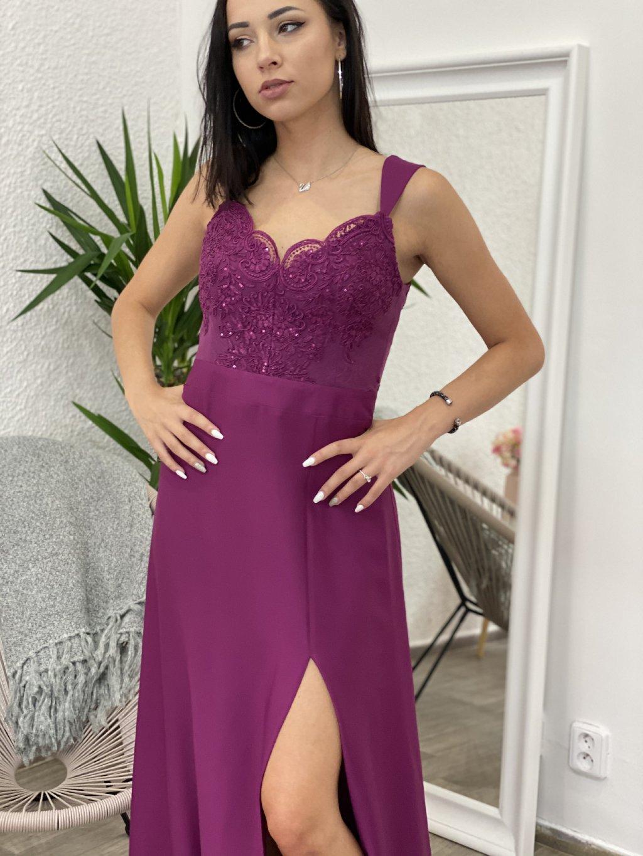 Šaty dlouhé Melani fialové