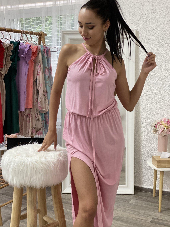 Šaty Nina dlouhé růžové