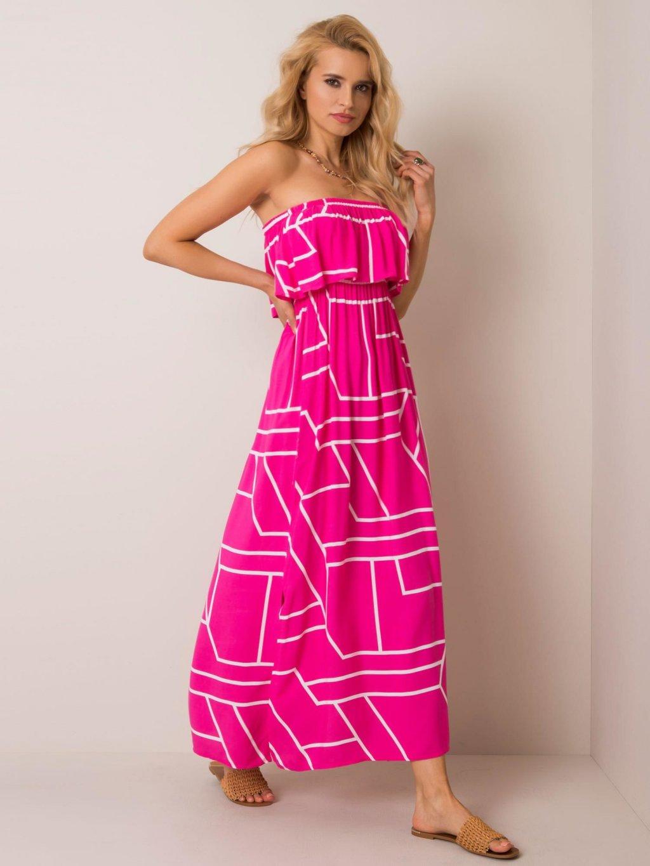 pol pl Ciemnorozowa sukienka Beverly RUE PARIS 351385 1