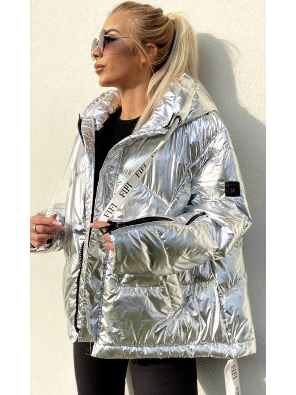 Zimní bunda Fifi Maya stříbrná