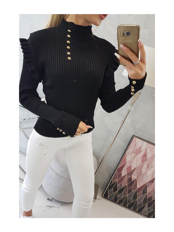slo pl Vesta so svetrovou bluzkou na gombiky cierna 19305 5