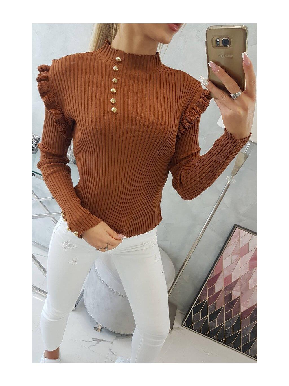 slo pl Vesta so svetrovou bluzkou na gombiky tavej farby 19300 5