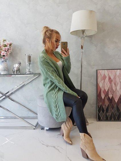 Kardigan Lea mint zelený