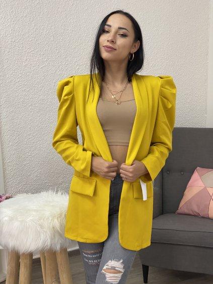 Sako Kimberley dámské s nabíraným rukávem žluté