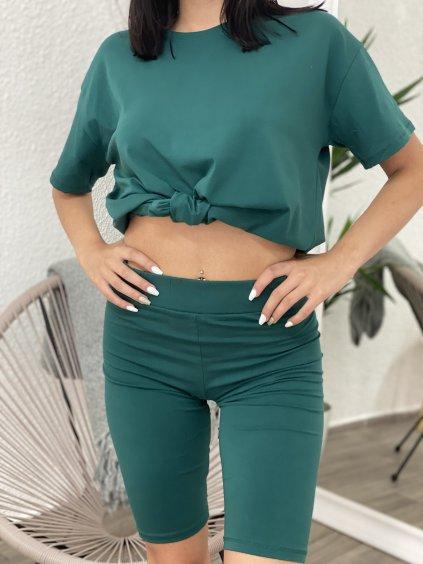 Komplet tričko+legíny zelené
