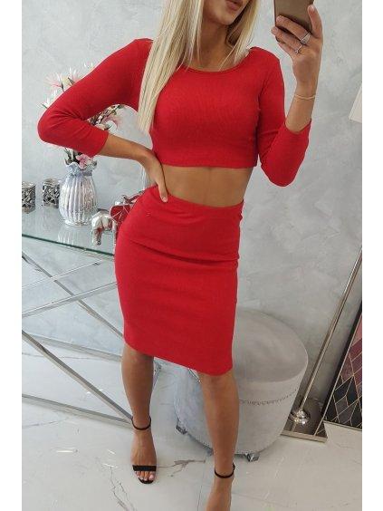 slo pl Sada bluzok so suknou cervena 17516 5
