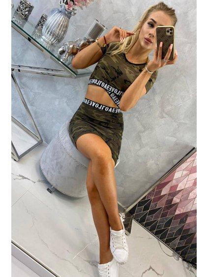 slo pl Sada bluzok so suknou moro khaki zelena 17601 5