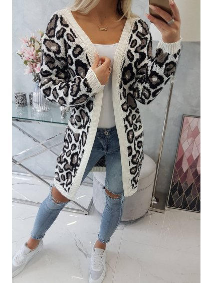 slo pl Leopardi sveter ecru 15934 5