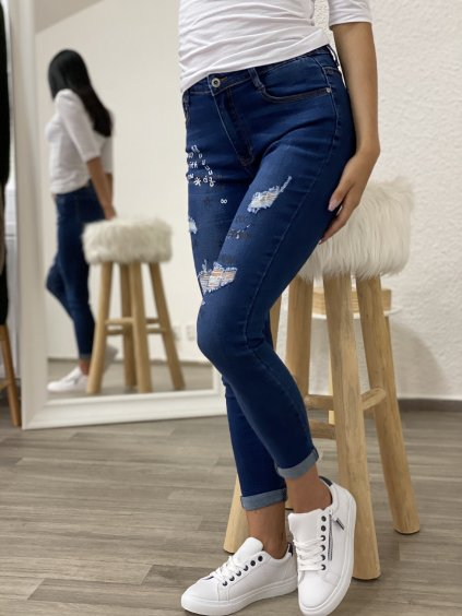 Tmavě modré džíny Crossline
