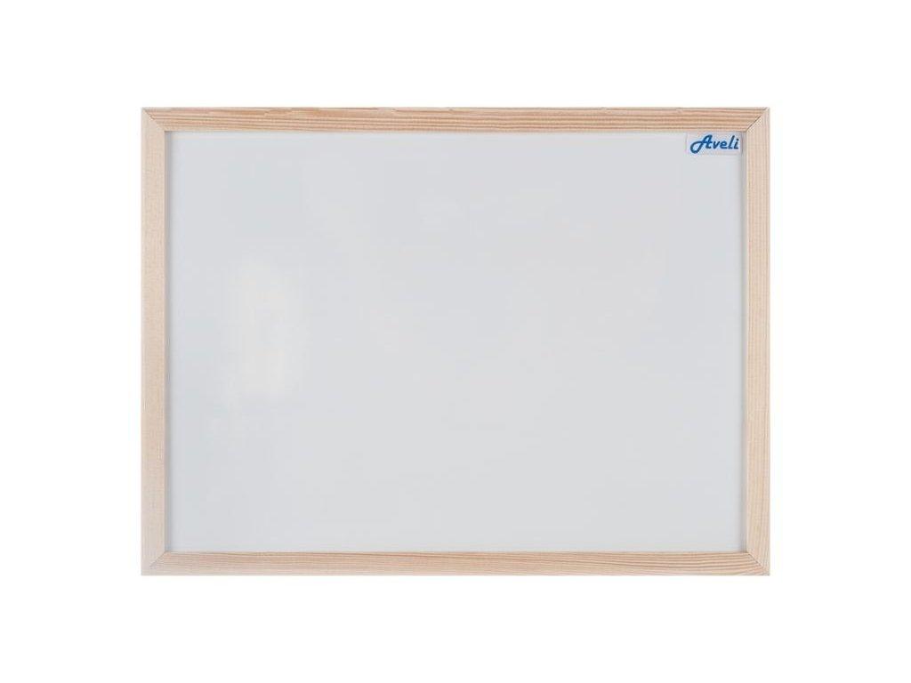Strålande Magnetická tabule AVELI 90x60 cm, dřevěný rám - NOBYNET PS-39