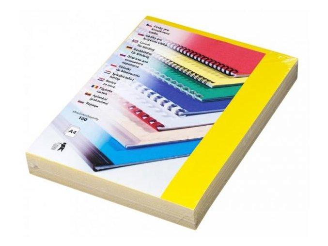 Desky pro kroužkovou vazbu Chromo A4 žluté