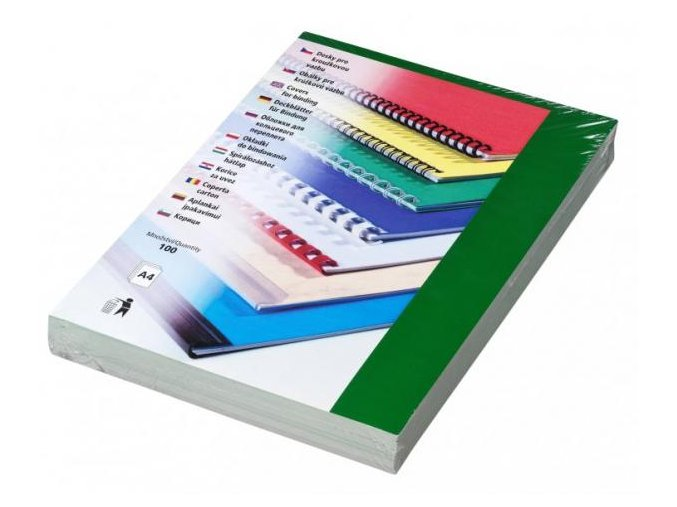 Desky pro kroužkovou vazbu Chromo A4 zelené