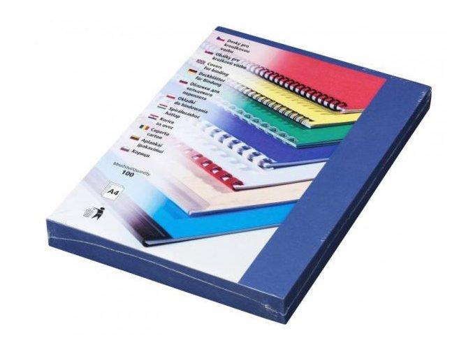 Desky pro kroužkovou vazbu Linen A4 tmavě modré