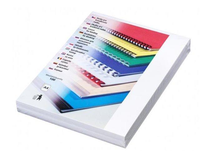 Desky pro kroužkovou vazbu Linen A4 bílé