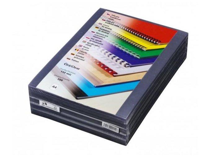 Fólie pro kroužkovou vazbu PRESTIGE A4 150 mic čiré 500 ks