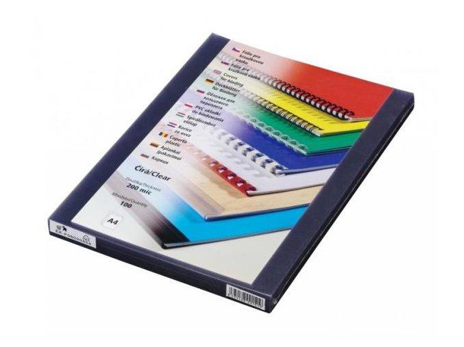 Fólie pro kroužkovou vazbu PRESTIGE A4 200 mic čiré