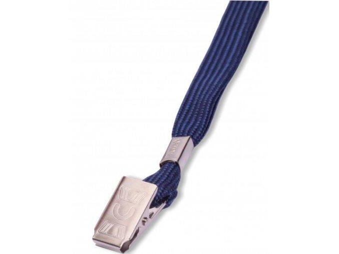 Šňůrka na krk LILY s klipem tmavě modrá 50ks