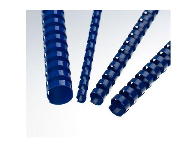 Plastové hřbety 6 modré 200ks