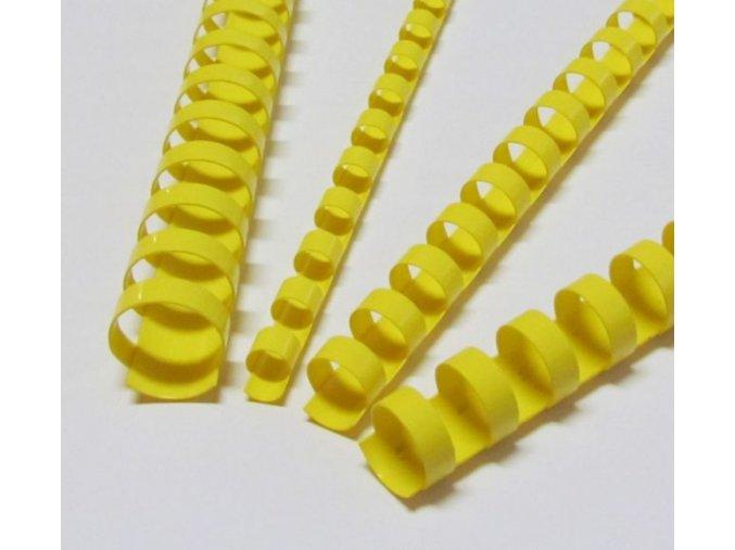 Plastové hřbety 6 žluté 200ks