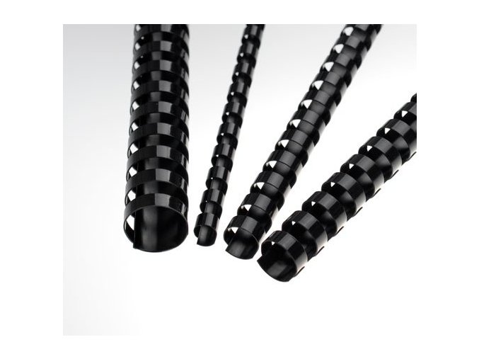 Plastové hřbety 6 černé 200ks