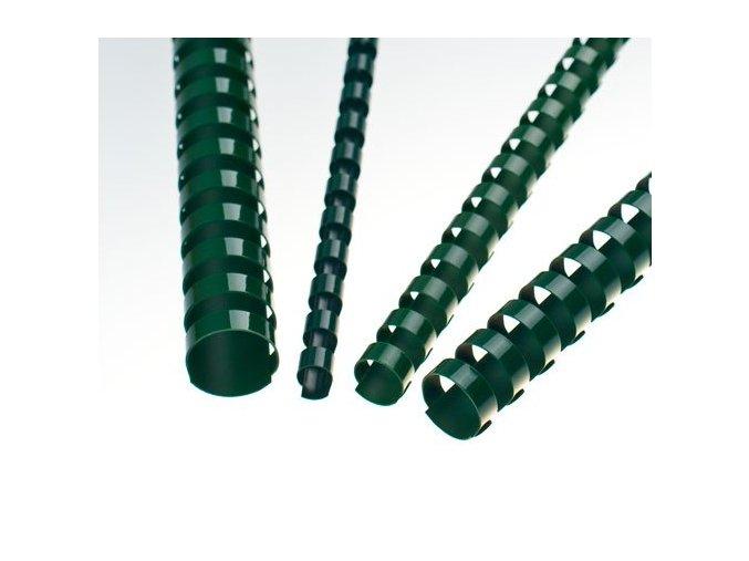 Plastové hřbety 6 zelené 200ks