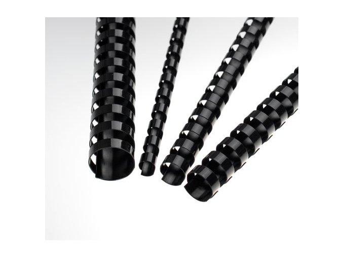 Plastové hřbety 19 černé