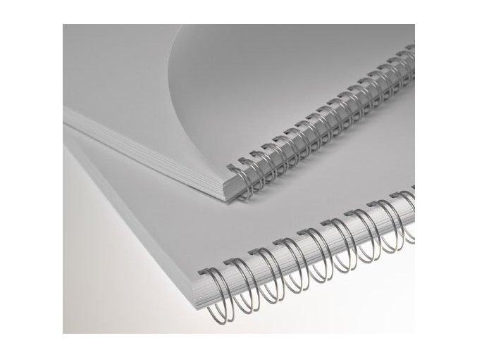 """kovové hřbety (2/1"""") 6,4 stříbrné"""