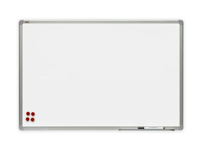 Bílá magnetická tabule Premium 180x90
