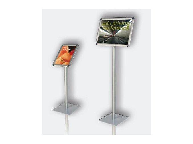 Informační tabule na stojanu, výška 80cm, A4 na výšku