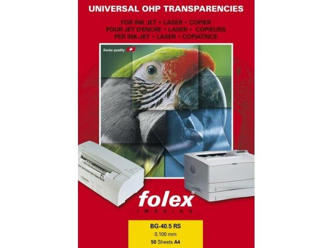 Folex BG-40.5 RS - multiuniversální čirá fólie A4