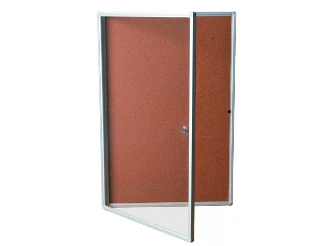 Vitrína korková 90x120cm, uzamykatelná