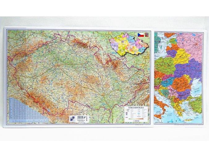 Podložka na stůl 60x40cm oboustranná ČR-Evropa