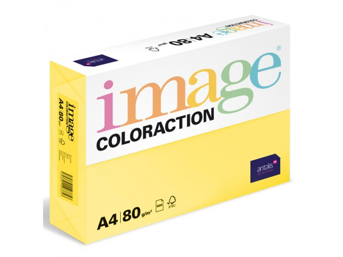 barevny papir image coloraction a4 80g pastelove zluta 500 ks 962